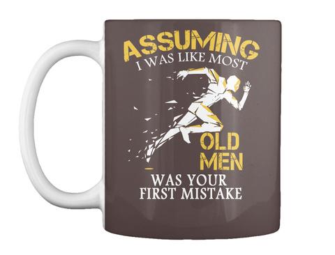 Runner Old Man Mug Uk Dark Brown Mug Front