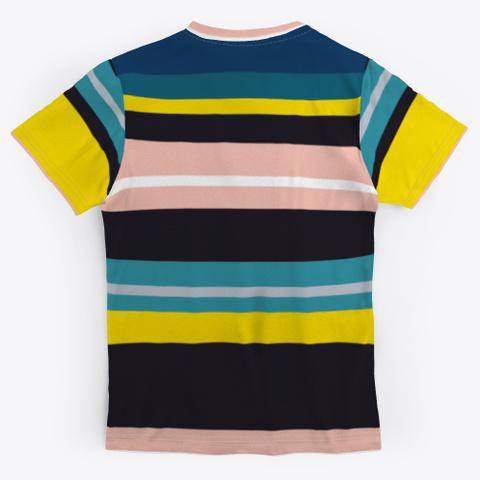 Classic Colorful Striped Art Standard T-Shirt Back