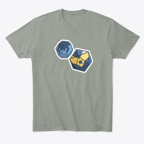Super Hero Dice Grey T-Shirt Front