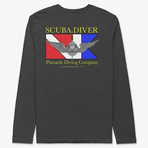 Pdc Long Sleeve Dive Flag Shirt Black T-Shirt Back