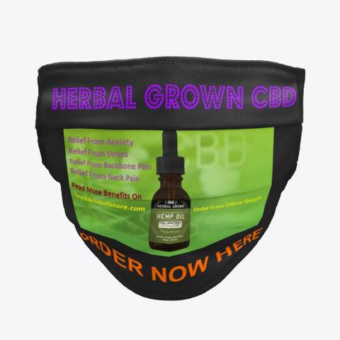 Herbal Grown Cbd Oil: Benefits, Reviews! Black T-Shirt Front