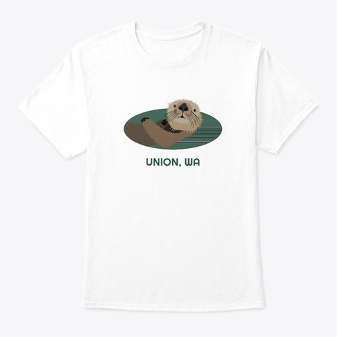 Union Wa Otter Pnw Native American White T-Shirt Front
