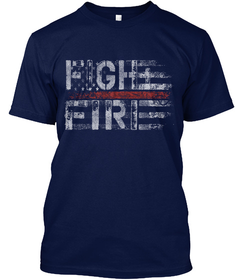 Fighter. Navy T-Shirt Front