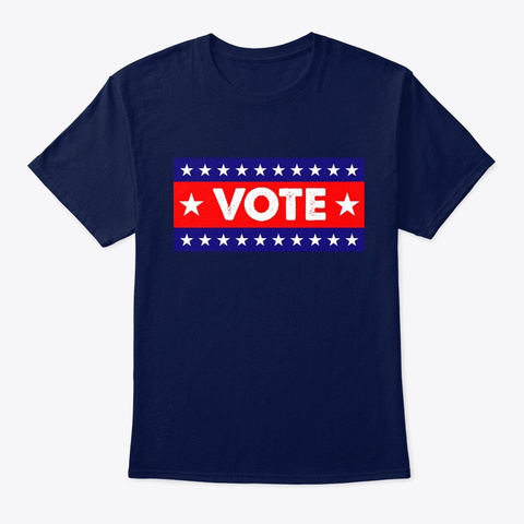 I Voted 2020 Election Navy T-Shirt Front