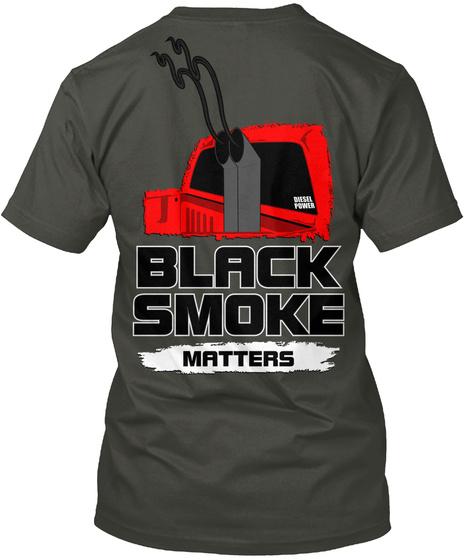 Black Smoke Matters Smoke Gray T-Shirt Back