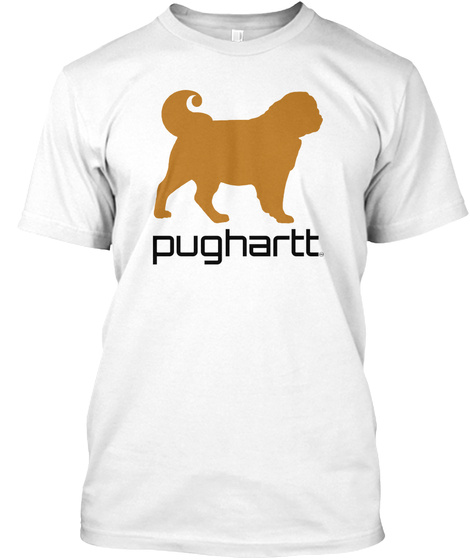 Pughartt White T-Shirt Front