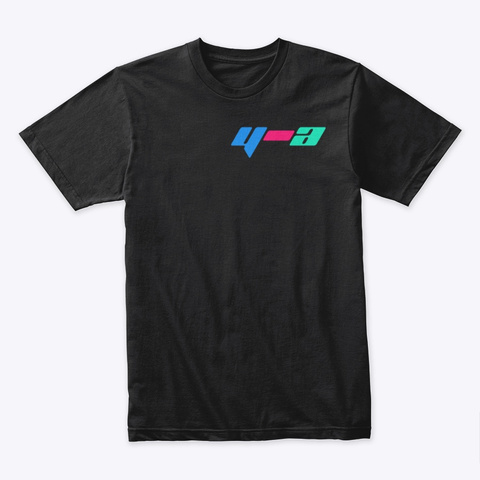 Yell Air Multi Color Black T-Shirt Front