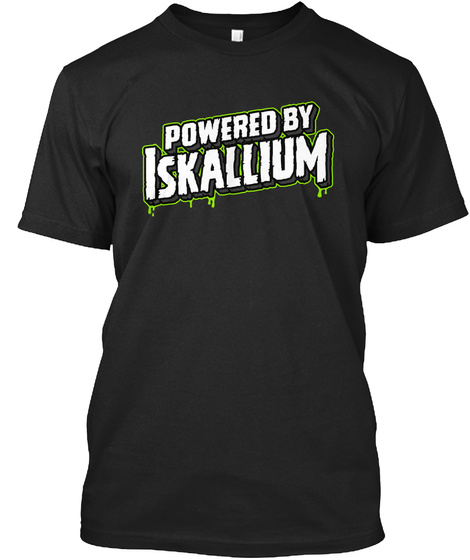 Powered Iskallium Black T-Shirt Front