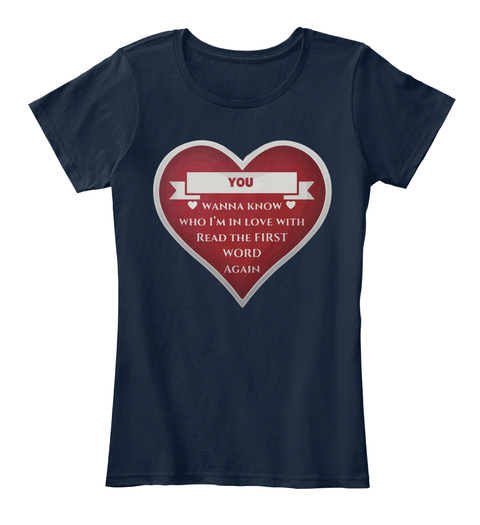 Love You | Valenti Ne Best Gift New Navy T-Shirt Front