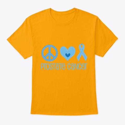 Prostate Cancer Walk Awareness Ribbon Gold T-Shirt Front