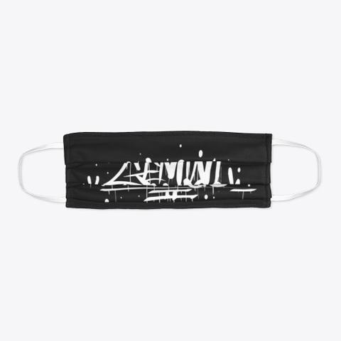 Gemini Genesis Logo Mask Black T-Shirt Flat