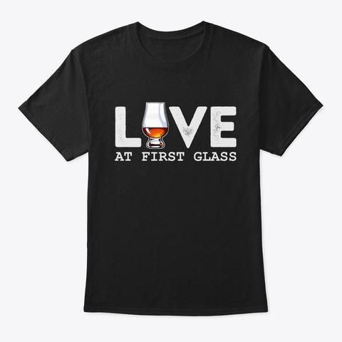 Love Scotch At First Glass T Shirt Black T-Shirt Front
