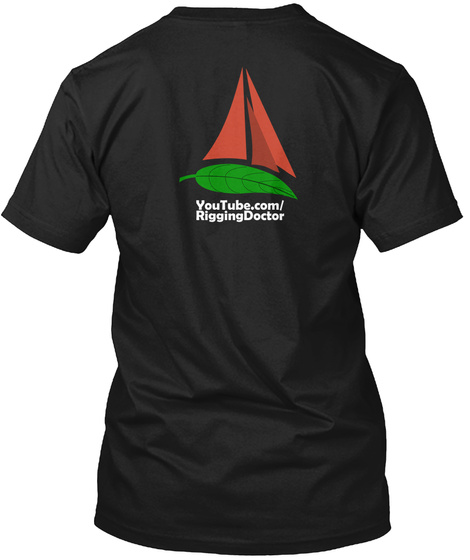 Sailing By The Stars Black T-Shirt Back