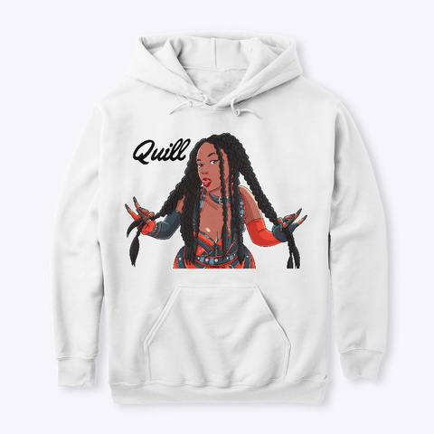 Quill's Merch White T-Shirt Front