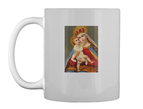 Queenship Of Virgin Mary Mug Lt Grey Mug Front