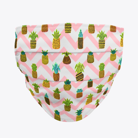 Awesome Pineapple Mask Washable Standard T-Shirt Front