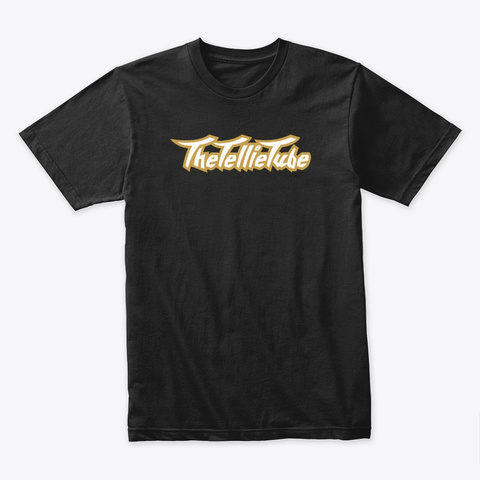 The Tellie Tube Classic Gold Black T-Shirt Front