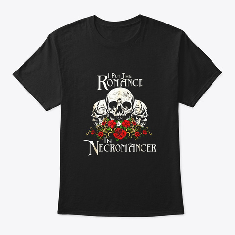Funny Necromancer Shirt Halloween Undead Black T-Shirt Front