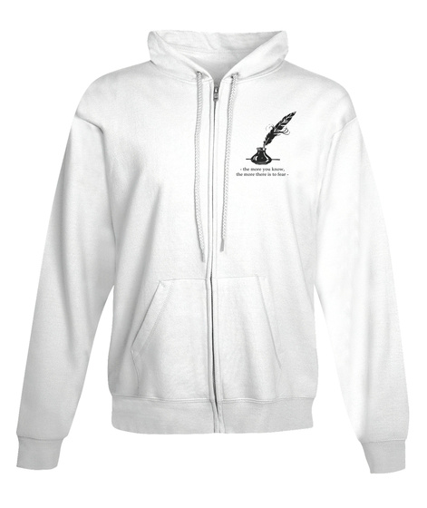 The Paranormal Scholar Logo White Sweatshirt Front