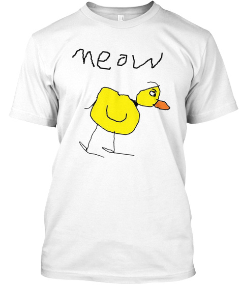 Meow White T-Shirt Front