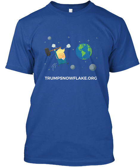 Trumpsnowflake.Org Deep Royal áo T-Shirt Front