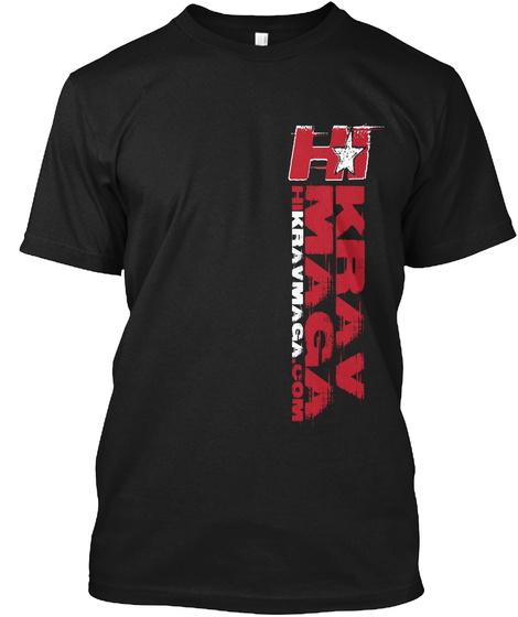 Hi Karv Maga Hikarvmaga.Com Black T-Shirt Front