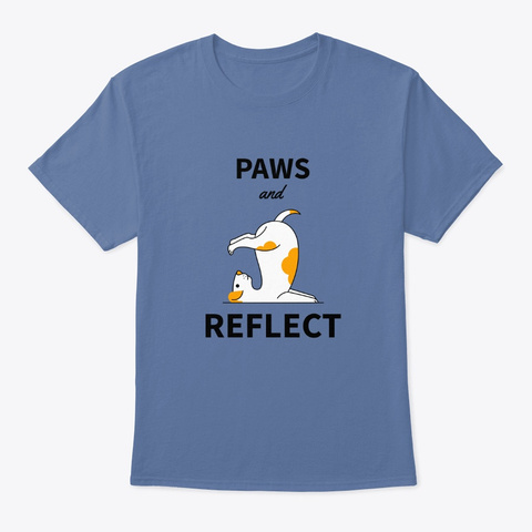 Paws And Reflect Denim Blue T-Shirt Front