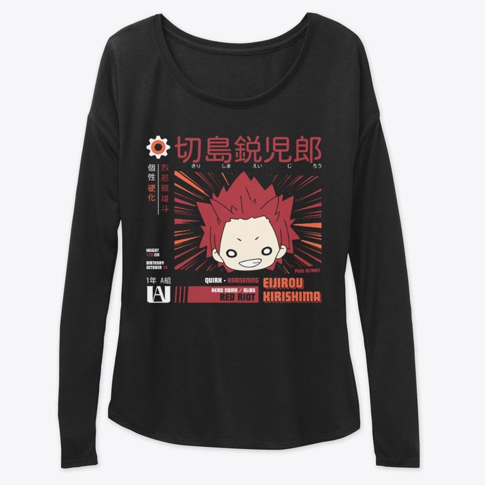 PrinceWu BNHA My Hero Academia Hoodie Red-Riot Hero Eijiro Kirishima Shirt for Youth Weekend