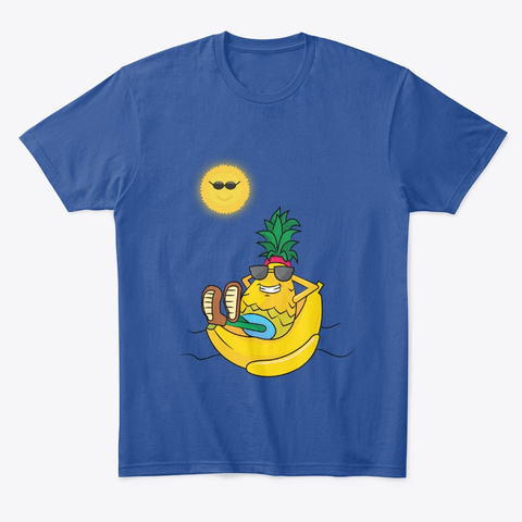 Summer Sun Fun Banana Boat  Deep Royal T-Shirt Front