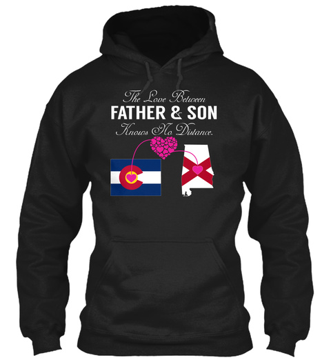 Father Son   Colorado Alabama Black T-Shirt Front