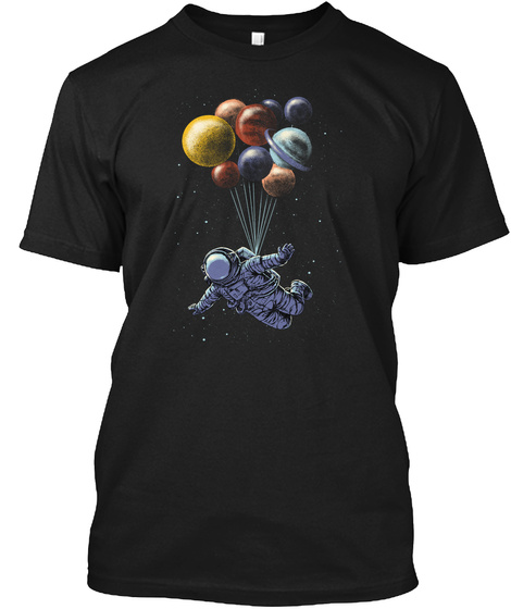Space Travel Tee Black T-Shirt Front