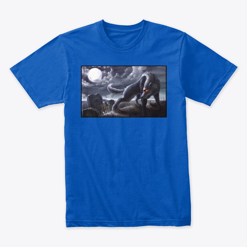 Wolf Spirit  Royal T-Shirt Front