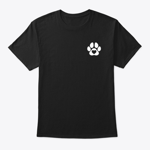 A Dog's Love Black T-Shirt Front