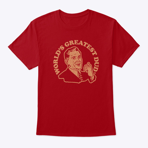 Wgd Retro Distressed (Mp) Deep Red T-Shirt Front