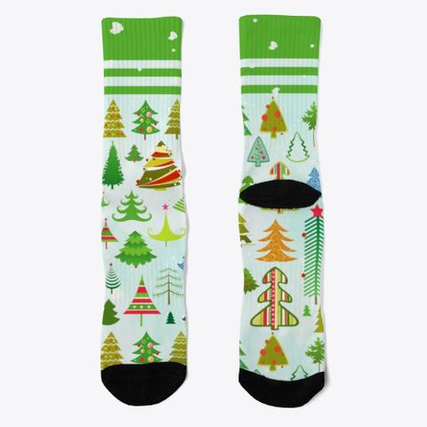 Jolly Christmas Socks Black T-Shirt Front