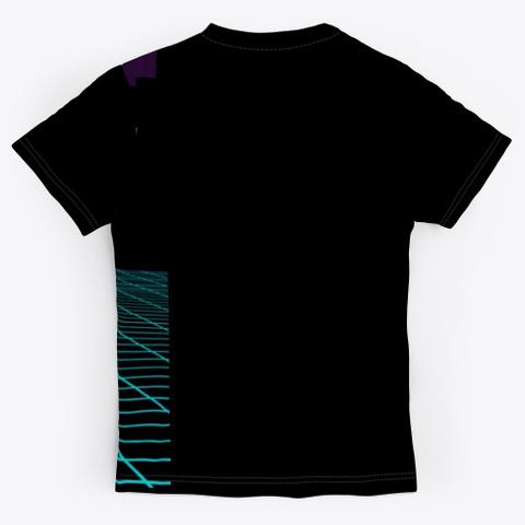 Nthefastlane 80's Retro Futuristic City Black T-Shirt Back