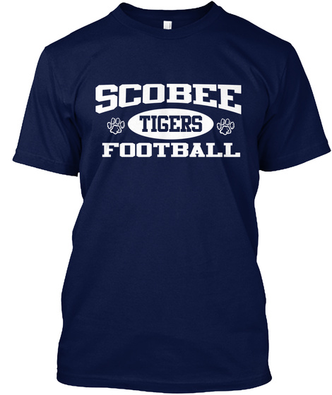 Scobee Tigers Football Navy T-Shirt Front