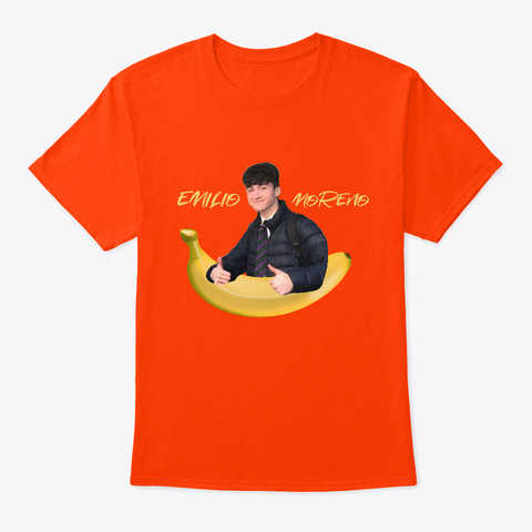Emilio+Banana Tee   Emilio Moreno Orange T-Shirt Front