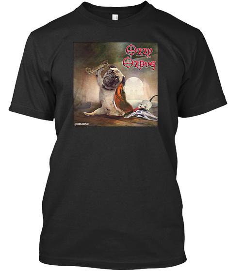 Ozzy Ozpug Black T-Shirt Front