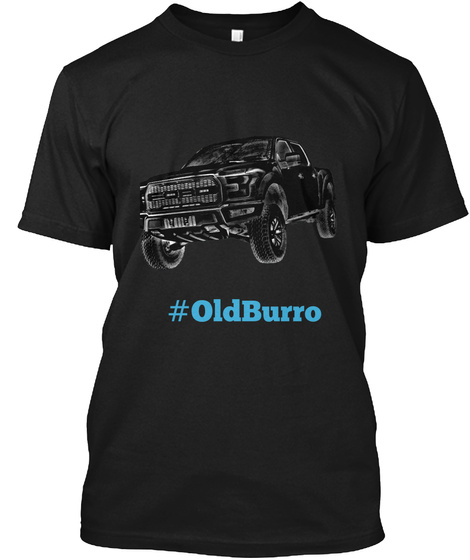 #Oldburro Black T-Shirt Front