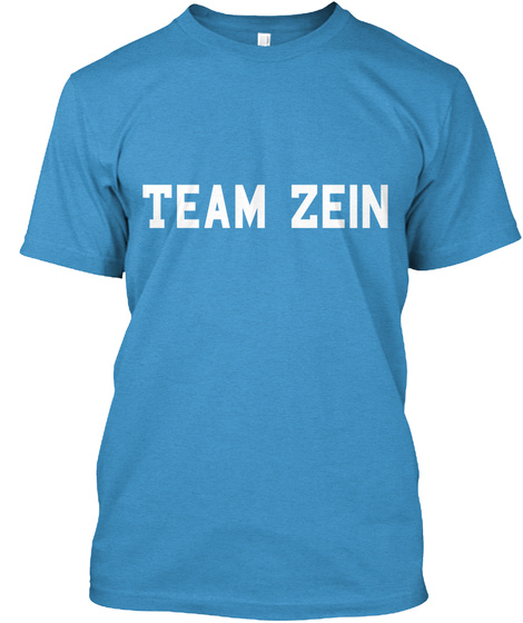 Team Zein Heathered Bright Turquoise  T-Shirt Front