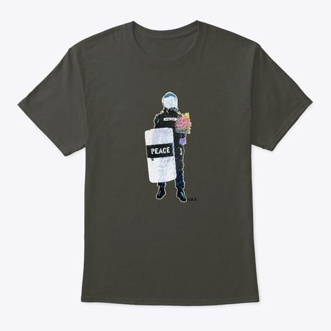 Peace Officer Movement By K.U.T. Smoke Gray T-Shirt Front