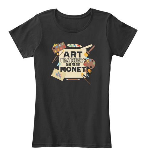Art Teacher   Love Art Teacher S Black T-Shirt Front
