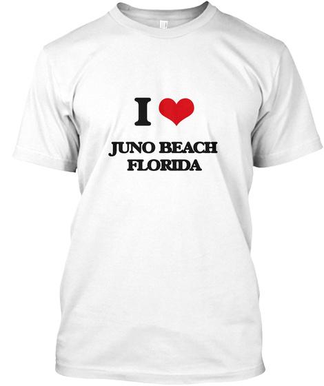 I Love Juno Beach Florida White T-Shirt Front