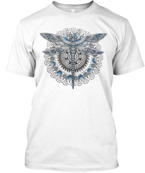 Dragonfly Dragonfly Art 02 White T-Shirt Front