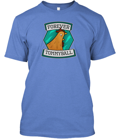 Forever Tommyball Heathered Royal  T-Shirt Front