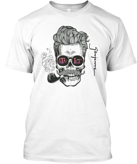 Stay Lit Ganja White T-Shirt Front