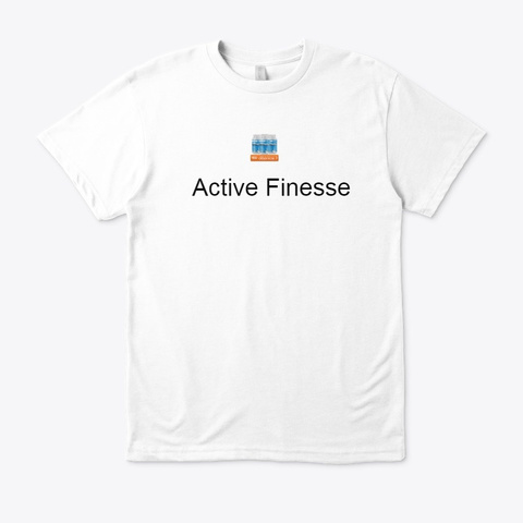 Active Finesse Keto   Help Lose Weight ! White T-Shirt Front