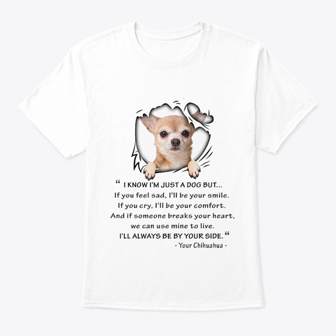 Chihuahua 271118 White T-Shirt Front