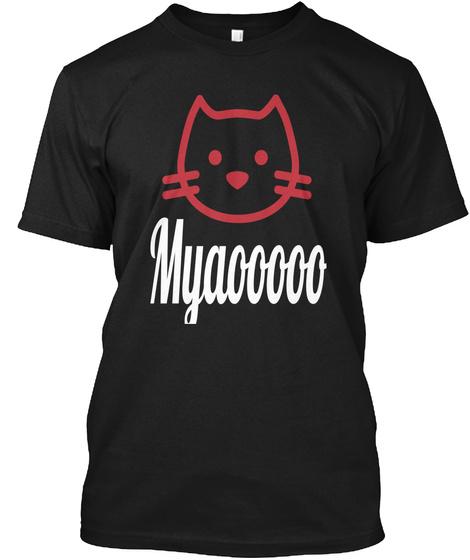 Myaooooo Black T-Shirt Front